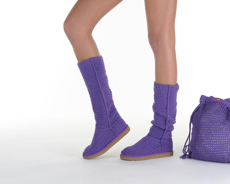 Летние вязаные сапоги Livs Classic Tall Dark Purple — главное фото