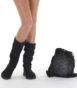 Летние вязаные сапоги Livs Sienna Black — фото анфас