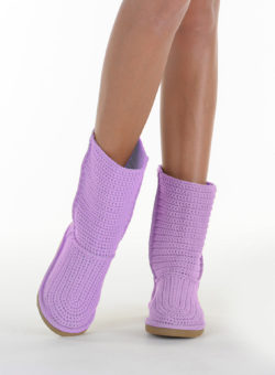 Летние вязаные сапоги Livs Classic Short Light Purple - фото анфас