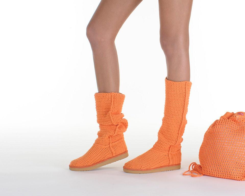 Летние вязаные сапоги Livs Classic Tall Mock Orange — фото влево