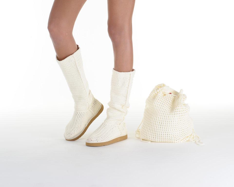Летние вязаные сапоги Livs Classic Tall Cream — фото влево