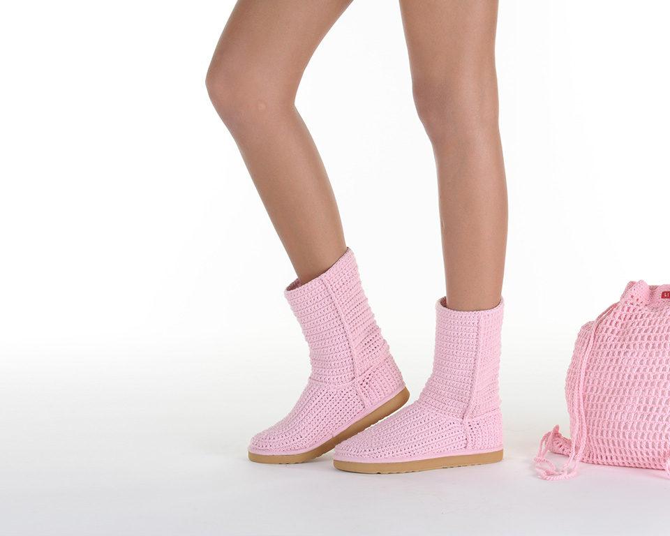 Летние вязаные сапоги Livs Classic Short Baby Pink — главное фото