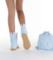 Летние вязаные сапоги Livs Classic Short Baby Blue — фото сзади