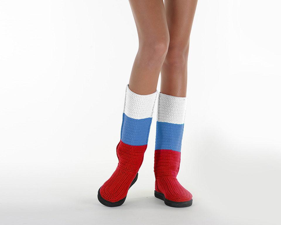 Летние вязаные сапоги Livs Classic Tall Russia — фото анфас